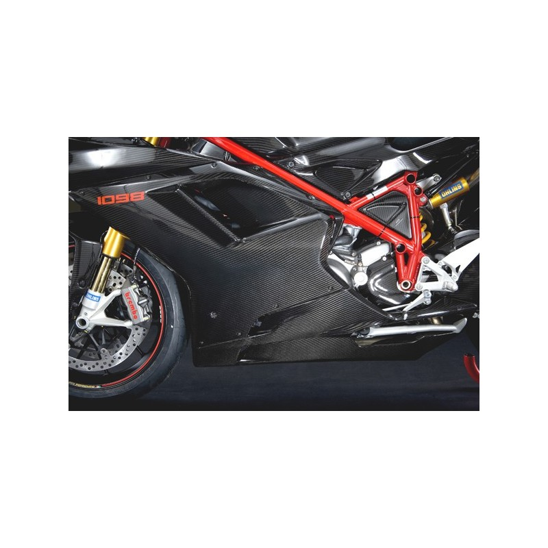 gp style carbon dry side fairing set ducati superbike. Black Bedroom Furniture Sets. Home Design Ideas