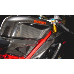 Kit de paneles laterales Carbon Dry - Ducati Superbike.