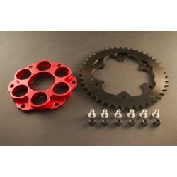 Kit portacoronas AEM Factory Rojo 6 para Ducati