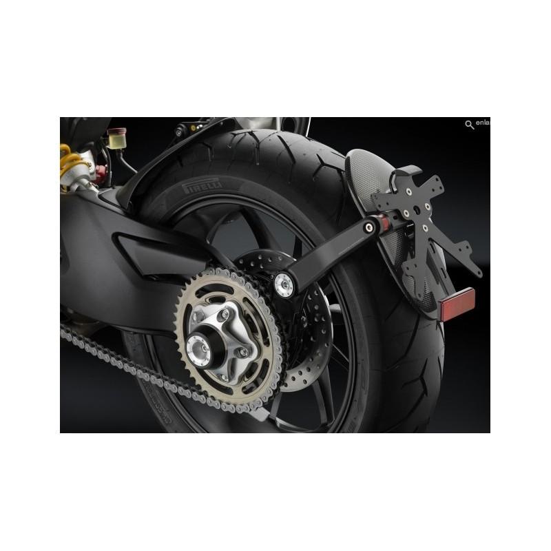 Ducati Hyper 821-939 Side Arm Rizoma plate holder.
