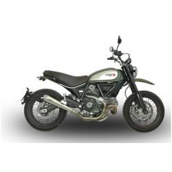 Sistema de escape homologado QD para Ducati Scrambler