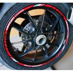 Kit adhesivos Ducati Corse para llantas
